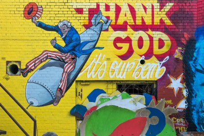 Thank God it's our bomb – Street wall artwork #2