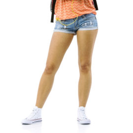 Stylus blue low rise shorts