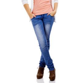 Kiara blue pencil fit jeans