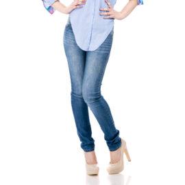 Queen women blue skinny fit jeans