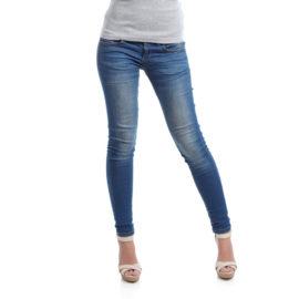 Kiara blue low rise pencil fit jeans