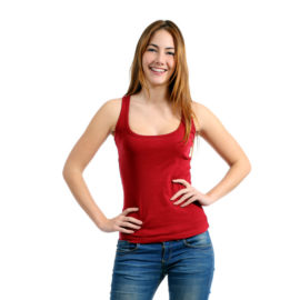 Kiara red eva tank top