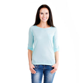 Shanaya light blue cotton top