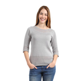 Roses grey knitted slim top