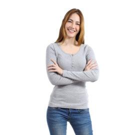 Girlfriend grey slim top