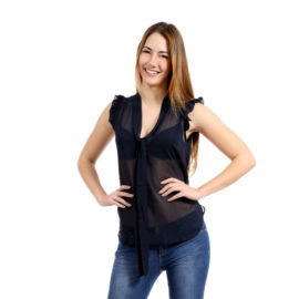 Abira black sheer top